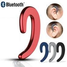 Легкий вес, без ушей, беспроводная bluetooth-гарнитура, наушники, встроенные затычки в уши для микрофона для бега, бизнес-драйвер, спорт