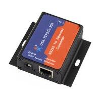 USR TCP232 302 darmowa wysyłka mały rozmiar seryjny RS232 do sieci Ethernet TCP IP moduł serwera konwerter Ethernet wsparcie DHCP/DNS w Zestawy do kontroli dostępu od Bezpieczeństwo i ochrona na