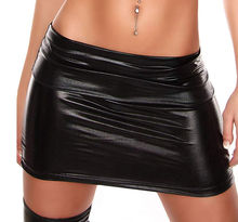 Sexy Women Faux Leather Short Pencil Bodycon Mini Skirt  Plus Size Skirts Womens Above Knee