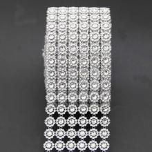 1 yard Silver Sunflower Mesh Wrap Crystal Rhinestone Sparkle Ribbon For  Wedding Decoration(China) 3bf173c5478b