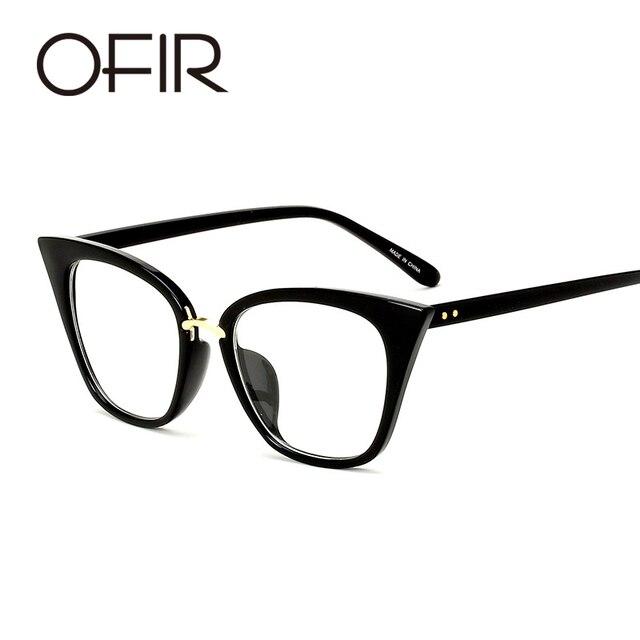 be4f77ea7f OFIR Cat Eye Glasses Frames For Women Men Brand Designer Vintage Eyeglasses  Clear Lens Optics Frame 2019 De Sol Feminino gafas