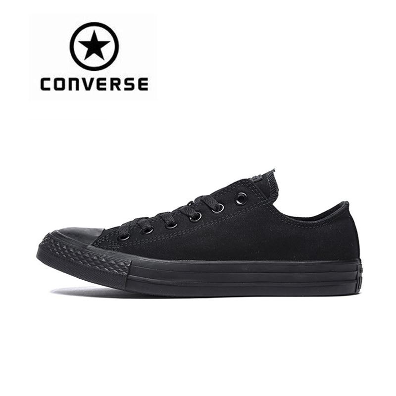 купить Authentic Converse All Star Canvas Shoes Unisex Classic Low Top Skateboarding Shoes Rubber Sneakser Black Converse Shoes по цене 2726.75 рублей