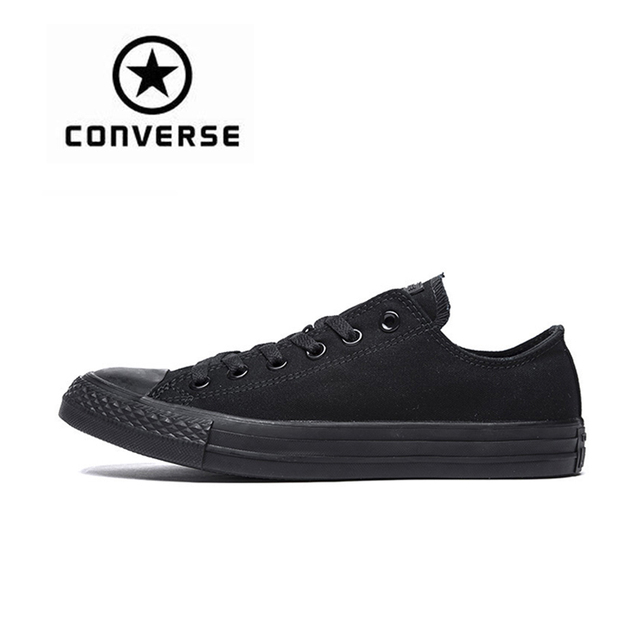 488187bd4eef16 Authentic Converse All Star Canvas Shoes Unisex Classic Low Top  Skateboarding Shoes Rubber Sneakser Black Converse Shoes