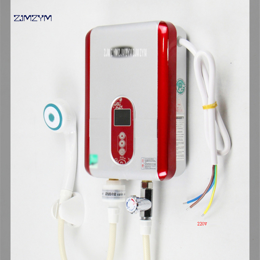 6000W Instant Electric Tankless Water Heater Instantaneous KLSD-G2 220V Electric Water Heating fast 3 s hot shower black/red