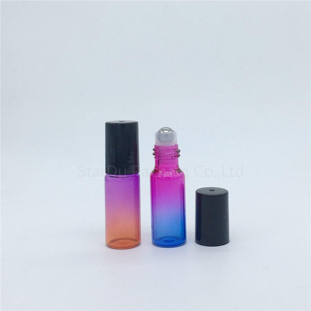 100 pcs/lot 5ml farbe rolle auf parfüm flasche, 5ml ätherisches öl rollon flaschen, farbverlauf glas roller container-in Nachfüllbare Flaschen aus Haar & Kosmetik bei  Gruppe 3