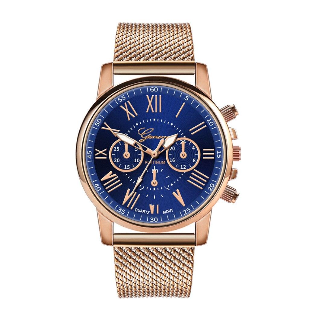 Роскошные Кварцевые часы для женщин и мужчин влюбленные пара Женские наручные часы Миланская нержавеющая сталь циферблат новое поступление - Цвет: C