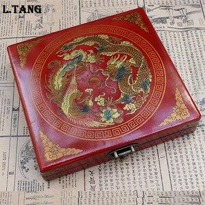 Деревянный Шахматный набор в стиле ретро, имитация античного кофейного столика, китайские солдаты династии Цинь, чешмен, Семейная Игра, под...