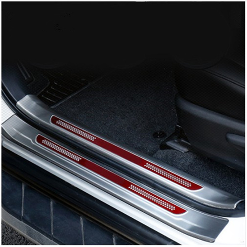 For Toyota RAV4 RAV 4 2013 2018 Stainless Steel Inside Door Sill Protector Pedal Scuff Plate