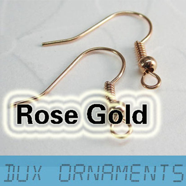 Earring Findings ear Wire Wholesale Rose gold earring hooks Nickel
