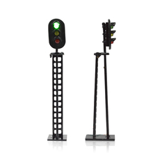 signal light HO scale  Model Railway & Building Layout traffic signal LED  lights 12V Led Model traffic lights toy 24cm road signs children model scene simulation teaching child traffic light signal lamp toy live voice