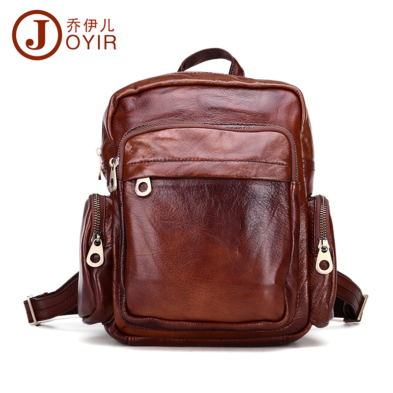 ФОТО JOYIR 2016 Genuine Leather Women's Vintage Small Backpack Cowhide Women Shoulder Bag Travel Backpacks School Bag Woman Bag 8060