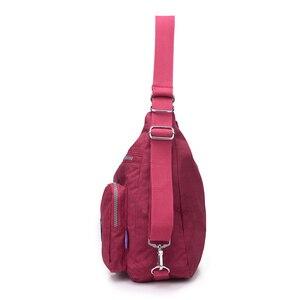 Image 2 - 女性のショルダーバッグ防水ナイロン女性スリングメッセンジャーバッグ女性トートクロスボディ女性のハンドバッグ