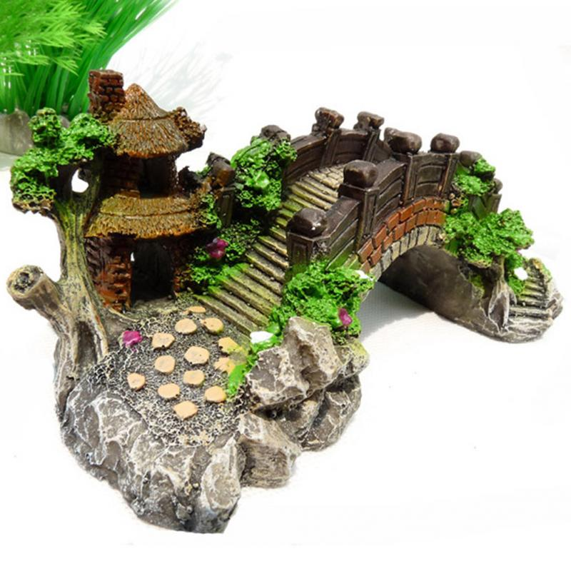 Popular fake rocks for aquariums buy cheap fake rocks for for Aquarium bridge decoration