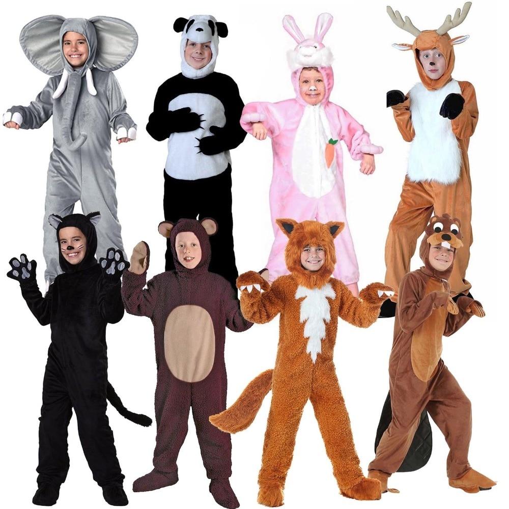 Kids Animal Costume Halloween Fancy Dress Cute Puppy Onesies Cartoon Animal Dress Up Costume for Birthday Party