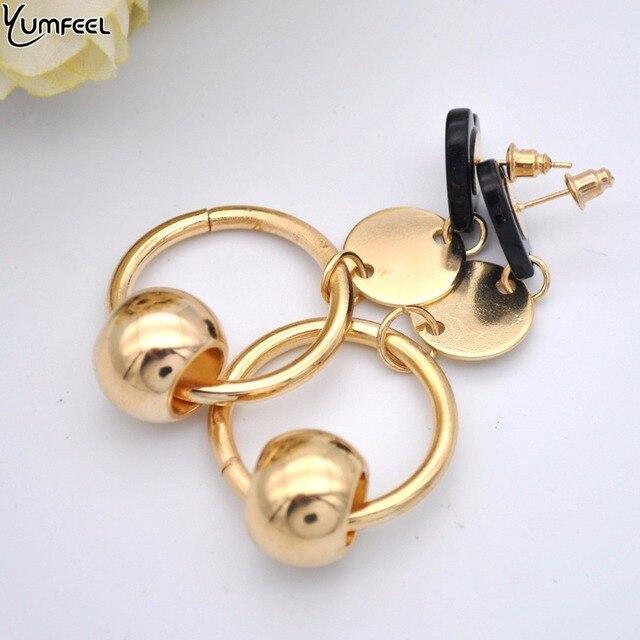 Yumfeel Brand New Fashion Accessory Earrings Heart Beaded Drop Earrings Pendientes Mujer Moda 4