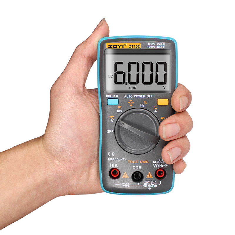 Image 3 - ZOYI ZT101 ZT102 Digital Auto Range Portable Multimeter 6000 counts Backlight Ammeter Voltmeter Ohm English/Russian user manual-in Multimeters from Tools