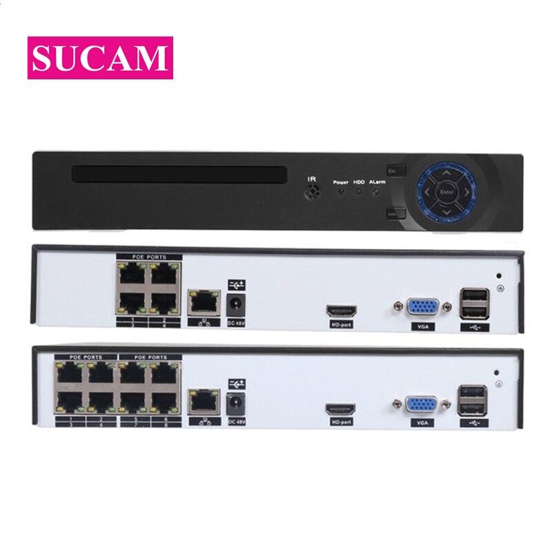 4CH 8CH 48 Watt 1080P CCTV POE NVR 8CH 4MP 4CH 5MP DVR System Kit XMEYE