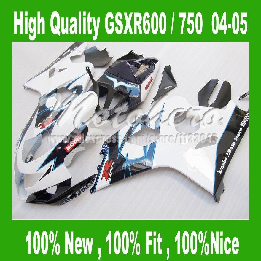 Fairing kits for SUZUKI  GSXR 750 K4 2004 2005 ABS fairings GSXR 600 K4 GSX-R600 04 05 GSX-R750 04 05 GSXR600 04 05