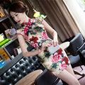 Sexy Silk Satin Mini Cheongsam Chinese Traditional Evening Dress Qipao QP147