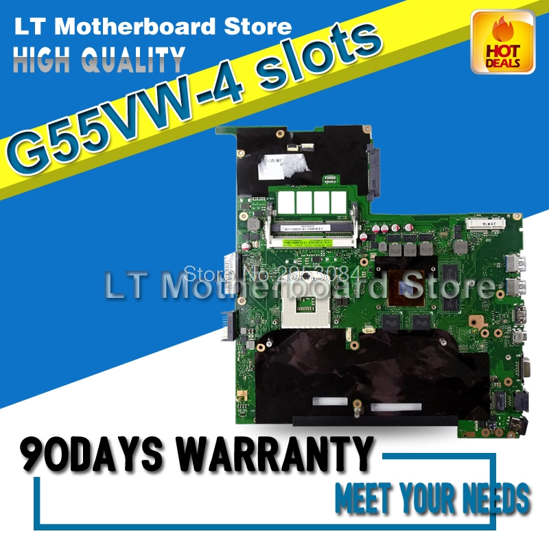 G55VW For ASUS Non-Integrated 4 SLOTS REV2.0 Laptop Motherboard System Board Main Board Card Logic Board Tested Well цена и фото