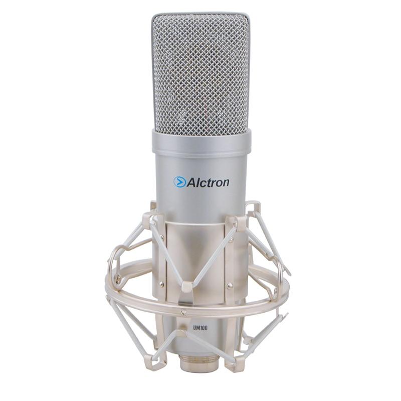 alctron um100 large diaphragm usb condenser microphone pro studio recording microphone for. Black Bedroom Furniture Sets. Home Design Ideas