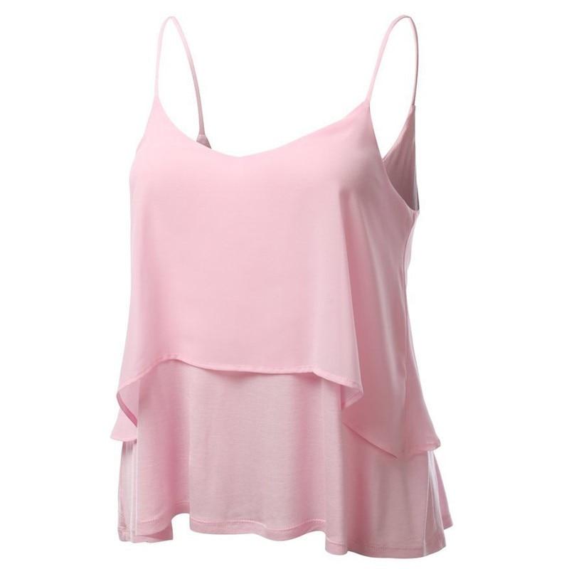 Jeseca New Sexy Chiffon   Blouse   Loose Halter Vest Sleeveless Sling Women Plus Size Clothing Female   Shirts   Ladies Tops   Shirt