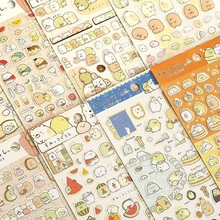 1Pcs Kawaii Scrapbooking Corner Creature Ver 3 Planner Stickers Decoration Label  Memo Pads Cartoon Korea Stationery San-x