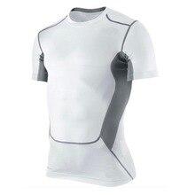 Мужская компрессионная футболка с коротким рукавом, спортивная коллекция, S-XXL