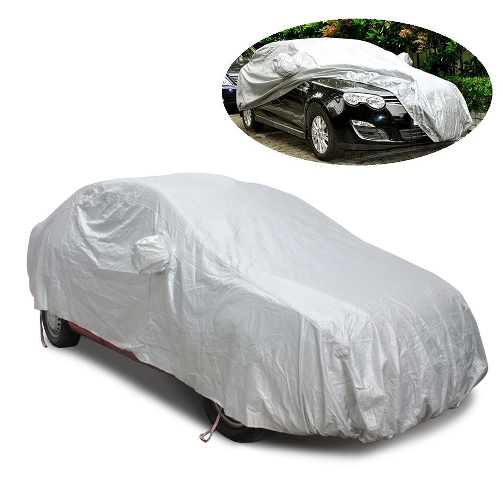 Étanche Couverture De Voiture Soleil & UV Pretection Crochet Up pour intérieur extérieur durable parasol neige bouclier cas pare-soleil berline voiture-couvre