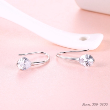 LEKANI 2019 NEW SALE Fine jewelry 925 Sterling silver Original Crystal From Swarovski Bella Mini Piercing Fashion Earrings 4