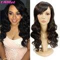 New Arrival Synthetic Wigs for Black Women Freetress Hair Long Wavy Brown Wig Faux Locs Pruiken Women Echt Haar Merida Long Wigs