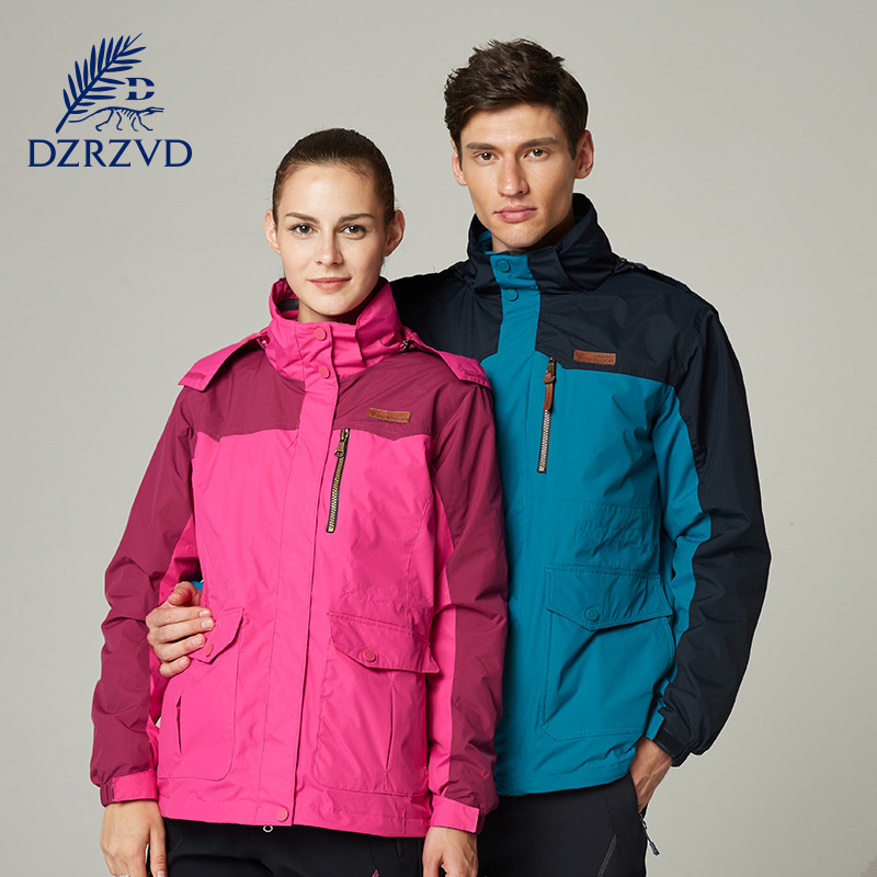 DZRZVD  New Mountain Hiking Jackets Women Men Waterproof Breathable Winter Outdoor Male for Hunting Ski Camping
