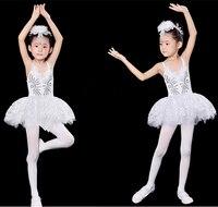 Nieuwe Meisjes Zwanenmeer Ballet Kostuum Kids Lovertjes Veer Professionele Ballet Tutu Jurk Voor Kinderen