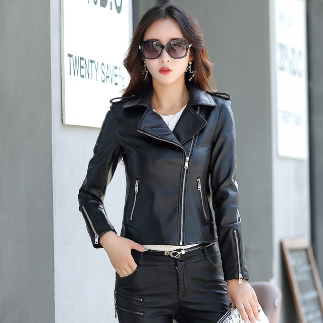 Veste en cuir mode femme