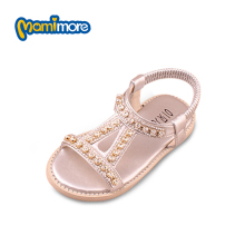 Girls Sandals 2017 New Princess Diamond Children'S Sandals Summer Rubber Kids Shoes Solid Color Chaussure Fille Size 26-30