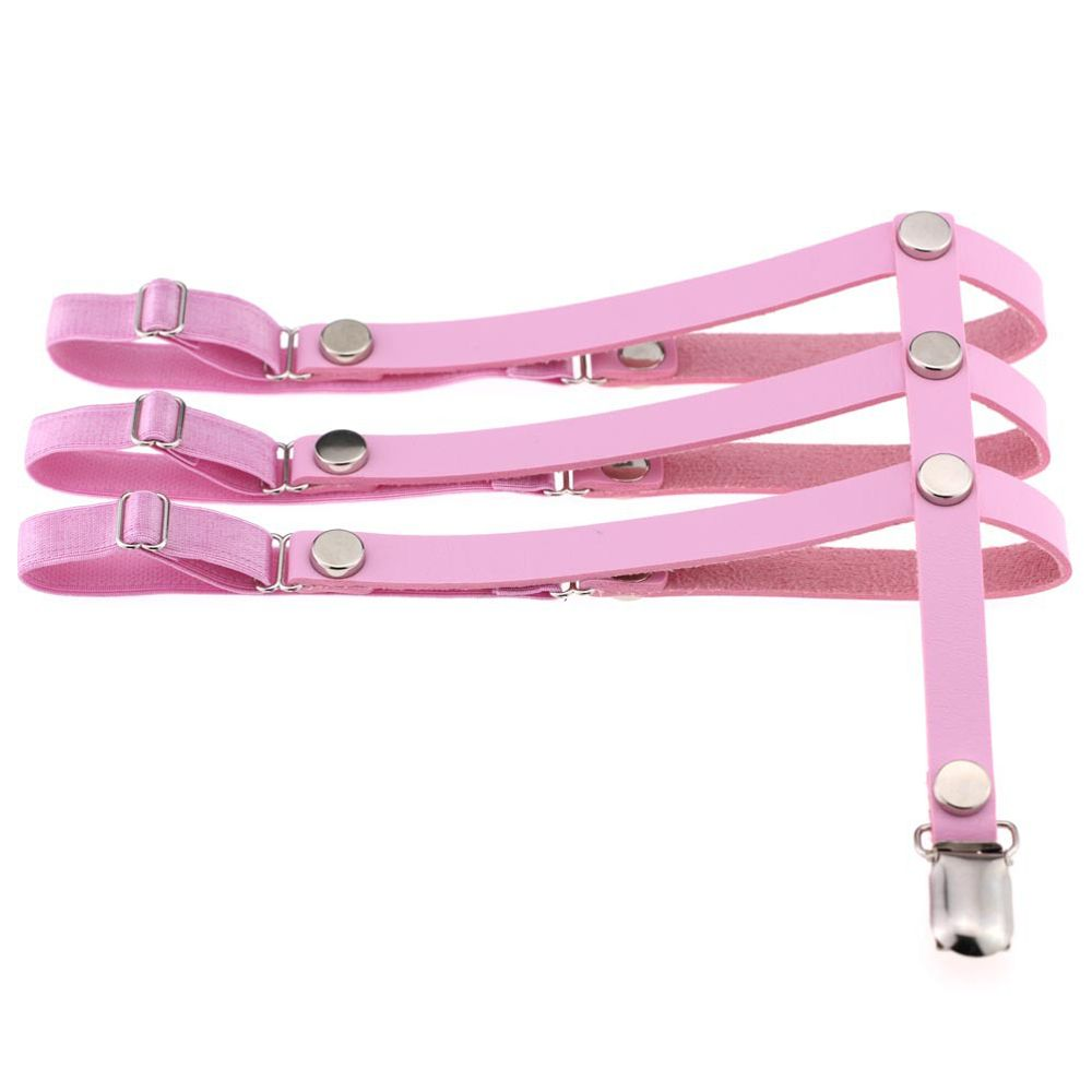 Women's Intimates Underwear & Sleepwears Hot Sale 1pcs Sexy Fashion Women Pu Leather Alloy Rivet Punk Leg Ring Garter Belt Suspenders High Quality Brand New Easy To Use