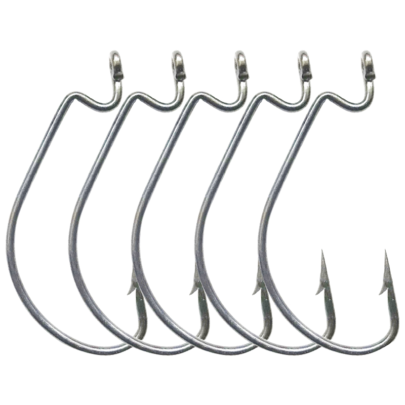 KASSYAA 30 50pcs High Carbon Steel Fishing Hooks Crank Barbed Hook Jig Big Crank Hook for Soft Bait Tackle High Quality KXY051 in Fishhooks from Sports Entertainment