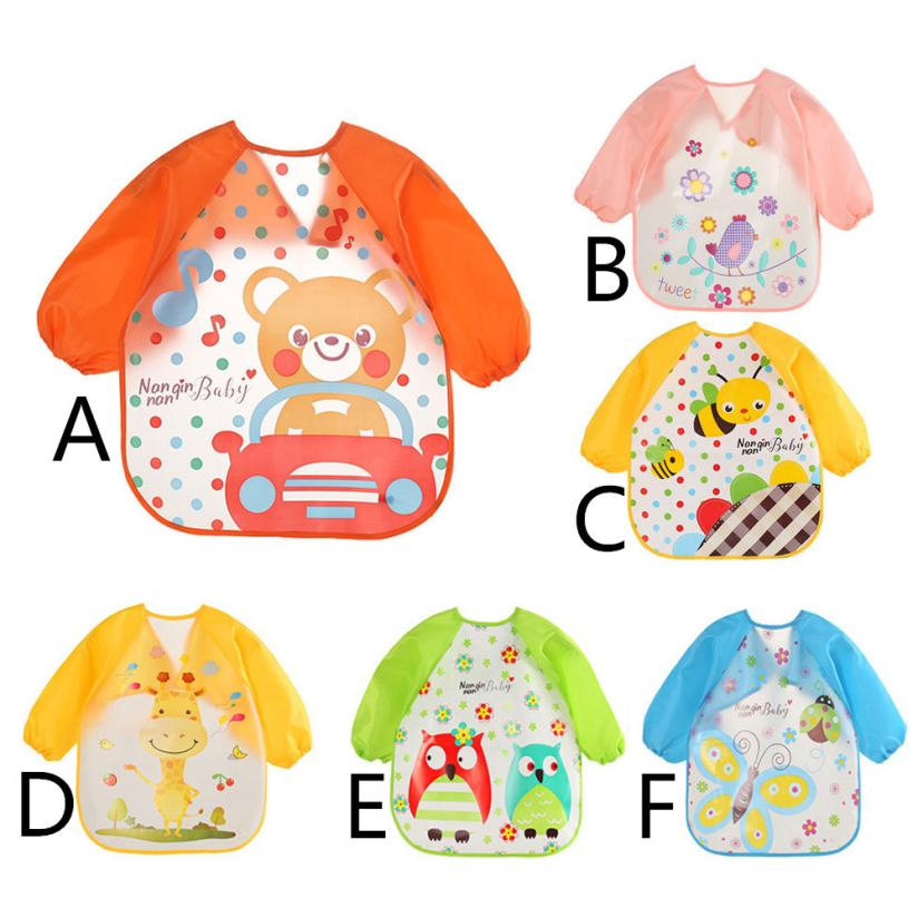 BMF TELOTUNY Fashion Baby Bibs Burp Cloths Waterproof Cartoon Kids Drawing Smock Feeding Accessories Apr9 Drop Ship