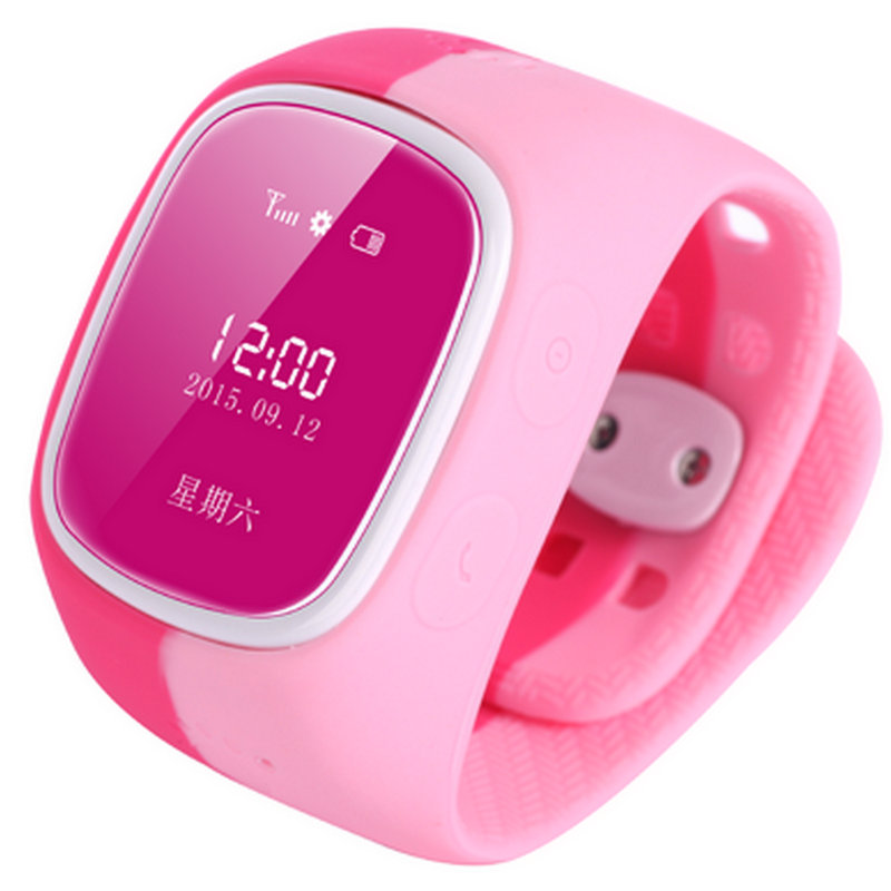 Favourite Smart child soft strap Fashion walkie talkie for gp s card led girl waterproof font