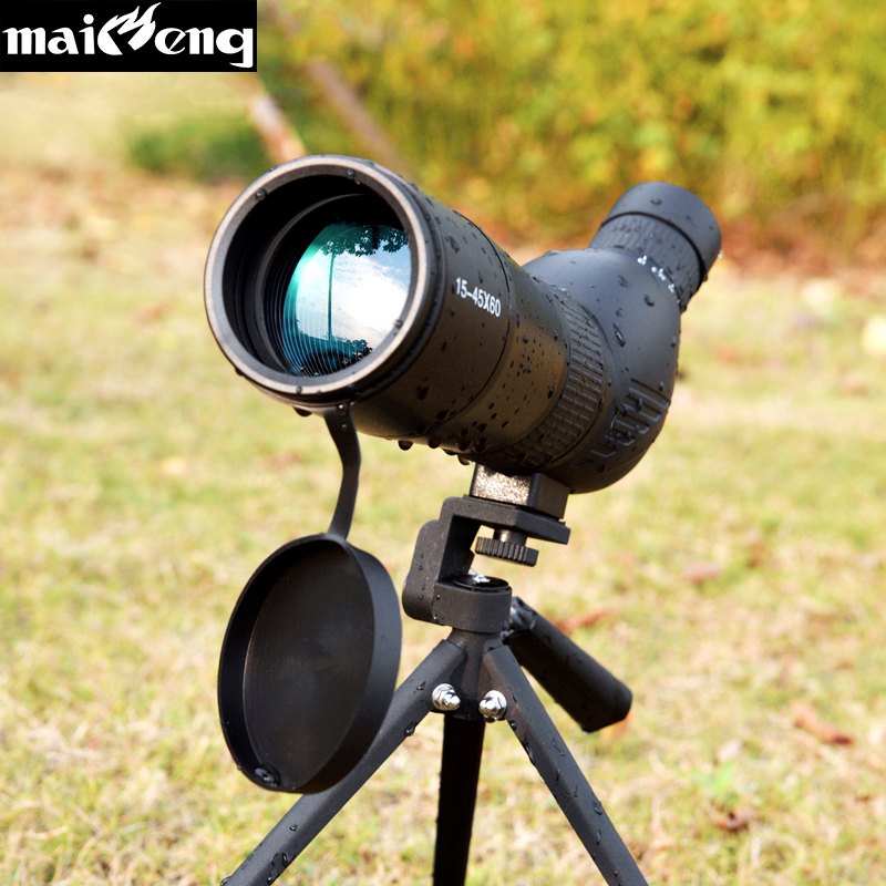 Zoom Monocular 15-45X60 Powerful Professional Astronomical Telescope HD Spotting Scope Nitrogen Waterproof for Bird-watching 20 60x60ae hd wide angle high power bird photography astronomical monocular binoculars telescope spotting scope