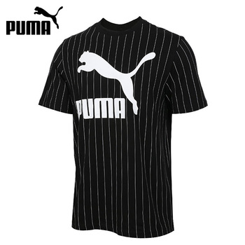 Original New Arrival  PUMA Pinstripe AOP Tee Men's T-shirts short sleeve Sportswear