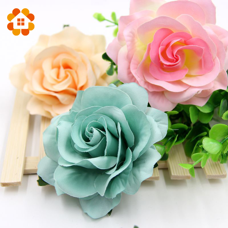 10pcs decorative artificial rose flower heads for wedding for Flower heads for crafts