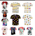 Venta al por mayor! 2015 más reciente para mujer / para hombre de la impresión 3D Emoji t shirts Smiley emoción divertido encantador de la historieta camiseta Tops Tee