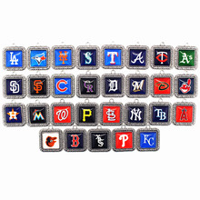 Mix 29pcs/lot MLB baseball sports team dangle charms alloy glass pendant floating for necklace bangle fashion jewelry