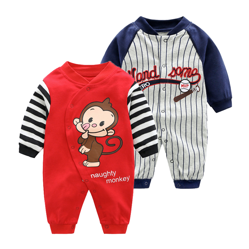 2019 New Baby Cotton Rompers Newborn-12M Pajamas Infant Cartoon Animal Costumes Christmas Baby Clothing High Quality Jumpsuit