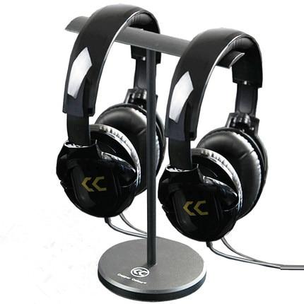 все цены на Double earphone bracket Aluminum Stand Headset Display Bracket for A K G Sennhei Grado Sony Denon Goethe large size headphones