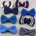 Niños de Punto Pajarita A Cuadros Rayas Mariposa Bowtie Del Bebé para Niños de Punto Camisa de Vestir Accesorios cravate gravata Corbatas Para El Partido
