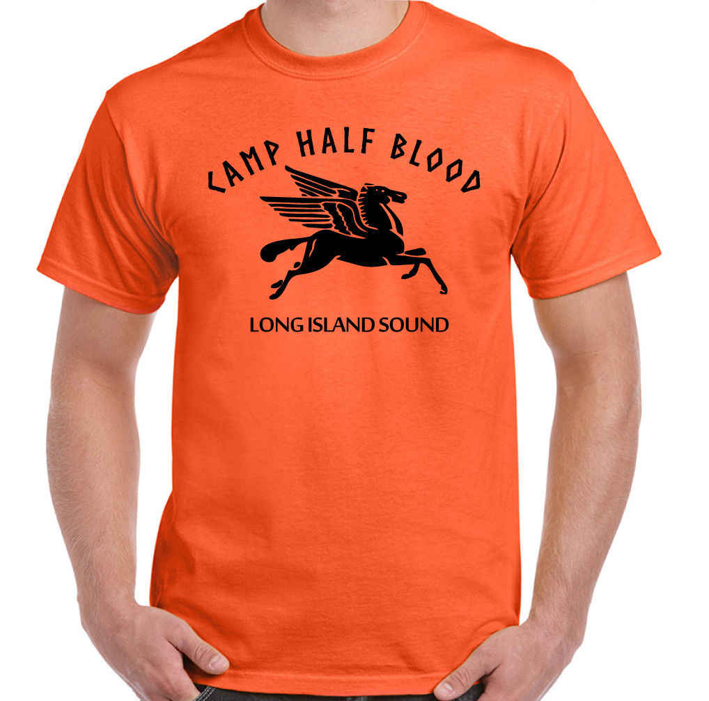 Camp Half Blood Mens Funny Percy & The Lightning Thief T-Shirt Movie Film Fan   Cool Casual pride t shirt men Unisex New Fashion