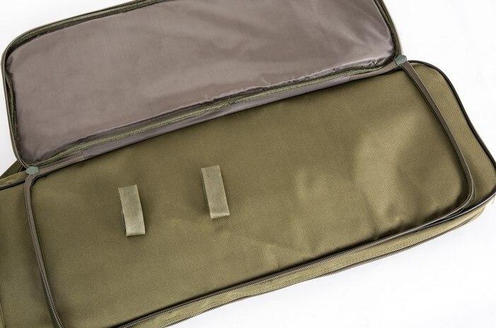 airsoft náilon quadrado transportar dupla carabina rifle saco tan