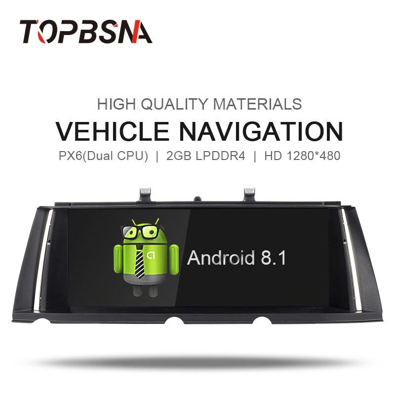 TOPBSNA PX6 Android 8.1 lecteur DVD de Voiture POUR bmw 7 Série F01/F02 2009-2012 Voiture Lecteur Multimédia GPS Audio Radio NAVI Stéréo WIFI